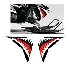 POLARIS jaws NOSE GRAPHIC RUSH PRO RMK  800 ASSAULT 120 155 163  DECAL teeth 2