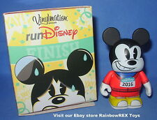 Run Disney 2016 Vinylmation Red Shirt Runner Mickey Mouse Figure