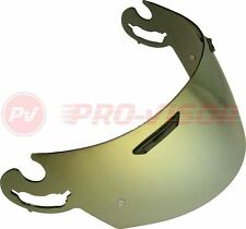 GOLD IRIDIUM PINLOCK READY VISOR FITS ARAI I-TYPE RX7-GP/Axces II/Chaser V