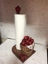 Orchard Red Apple Kitchen Paper Towel Holder Apple Bushels Country Apple Decor