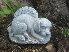 "Latex w/Plastic backup dog angel Mold For Plaster and Concrete 4""L x 2.75""H"