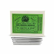 Packet Of 5 Assorted William Smith Sailmakers Needles In Different Sizes 13-19