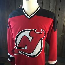 Vintage Nhl New Jersey Devils Throwback Hockey Starter Jersey XL New!