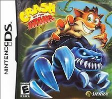 Crash of the Titans (Nintendo DS, 2007) complete game paperwork case mint