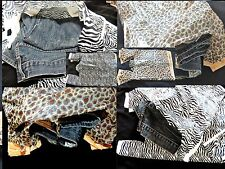 "200 Zebra and Leopard Plastic11""x21"" T-Shirt Bags Wholesale Animal Gift Bags"