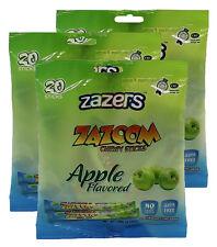 Zazers Green Apple Zazoom Sticks Taffy Coloring/Gluten Free Kosher 20pcs 3 pack