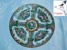 Chinese Plate Famille Rose Medallion Antique Oriental Red Qianlong Mark c1960s