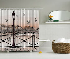 "PARIS ABSTRACT PIGEONS 70"" Fabric Bathroom Shower Curtain"