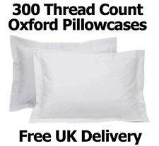White Oxford Pillowcases Pair 100% Egyptian Cotton 300 Thread Count Pillow Cover
