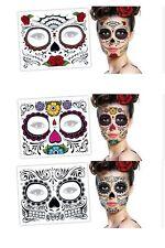 3 Day Of The Dead  Dia de los Muertos Face Mask SUGAR SKULL NEW TATTOO Halloween