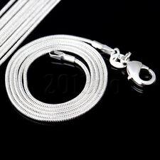 """Chaîne de collier serpent argent 1.2mm 20"""" pour perles européennes HG"""