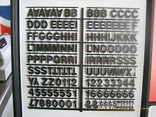 "1"" Coca-Cola Black Menu Board Letters,Numbers & Symbols Set"