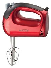 Brentwood HM-46 5-Speed Tone Color Hand Mixer, Red FREE SHIPPING NEW