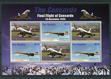 Gambia 2006 MNH Concorde Final Flight 4v M/S Filton Jet Planes Aviation Stamps