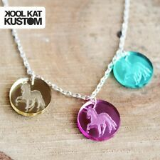 Unicorn dots cadena collar unicornio Necklace Kawaii Candy acrílico trazos pastel hipster
