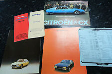 Rare 1970s Citroen CX GX brochures x3  Price Guides and Paint Guides