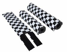 FLITE old school BMX bicycle padset foam racing pads CHECKERBOARD BLACK & WHITE