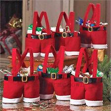 1pcs Weihnachten Hosen Beuter Geschenk Taschen Santa Sack Weihnachtsgeschenk Neu