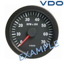 "VDO Viewline Tachometer Marine Boat Gauge 3000 RPM 85mm 3"" Black A2C59510209"