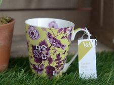 V&A Garden Birds LIME GREEN Small FINE CHINA MUG by Creative Tops