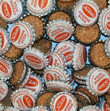 Soda pop bottle caps Lot of 25 NESBITTS ORANGE cork lined unused new old stock