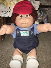 1982? CPK Cabbage Patch Boy Doll Original Outfit And Shoes Diaper Hat