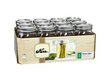 Jars 32 oz Mason Jar Ball Kerr 12 pk Glass Quart Case Lid Canning Quart storage