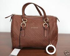 NUOVO GUESS LUXE Leather Collection borsetta Box Bag Satchel Borsa 1-15 UVP 259 €