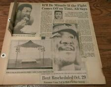 Vintage 70's Boxing Sports htf Clippings MUHAMMAD ALI George Foreman  Boxer lot