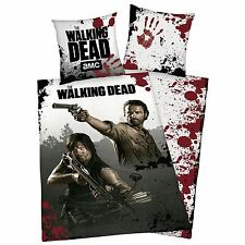 THE WALKING DEAD REVERSIBLE 100% COTTON DUVET COVER BEDDING NEW ZOMBIE