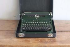 Vintage Smith Corona Rare Flat Top Green Antique Typewriter W/case And Keys