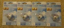 (4) GE Reveal 12 Volt 50 Watt 650 Lumen MR16 Halogen Flood Light Bulb Bulbs