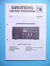 Service Manual for Grundig Satellite 600 ,ORIGINAL
