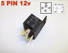 5 PIN 12v 40Amp AUTOMOTIVE CHANGEOVER RELAY CAR VAN WITH MOULDED BRACKET ( 16 )