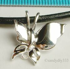 1x BRIGHT STERLING SILVER BUTTERFLY BAIL SLIDE PENDANT CONNECTOR N220