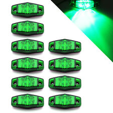 (10) Green LED Camper Trailer Light 2 Diode Surface Mount Clearance Optronics