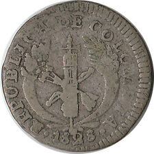 1828 (PN RU) Colombia 1 Real Silver Coin KM#87.2