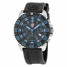 Luminox Original 3183 Steel Colormark Chrono Blk Dial Blue Numbers Night Vision