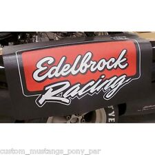 Edelbrock Guard Cover Holley NOS Drag Race Speedway Nascar Drift Mancave Burnout