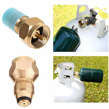 BBQ Grill Saver Small 1lb Propane Tank Gas Adapter refill Brass Camping kit TOOL