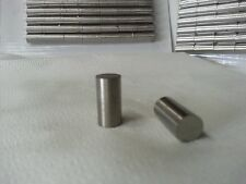 "Alnico 5 magnet round bar 5 each 3/8""dia x 3/4"" New item Precision ground"