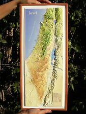 LARGE HOLY LAND MAP 3D Topographic Jesus Old Testament Israel Christian Gospel