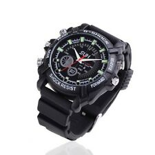 WATERPROOF SPY CAMERA SPORTS WATCH FULL HD 1080p MOTION VIDEO RECORDER & SOUND