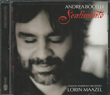 "CD Andrea Bocelli ""Sentimento"" London Symphony Orchestra - FREE SHIPPING!"
