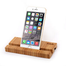 Musiclily Bamboo Universal Cell Phone Tablet Charging Stand Dock Station Holder