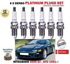 PER MITSUBISHI 3000 GT & GTO 3.0 4G72 92-99 PLATINO DENSO 6 CANDELE ACCENSIONE