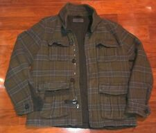 $188 Rogue State Heavy Wool Plaid Flannel Winter Lined Jacket Coat Men's Medium