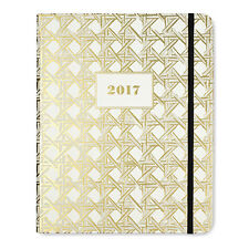 NEW - Kate Spade - Agenda Planner - 2017 -  Gold Caning - Medium Agenda