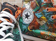 Aquaman DC Converse Chuck Taylor Hi tops Marvel uk 10 BNWT rare