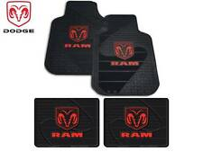 4 Pc Dodge Ram Front/Rear Rubber Floor Mats With Logo Fast Shipping